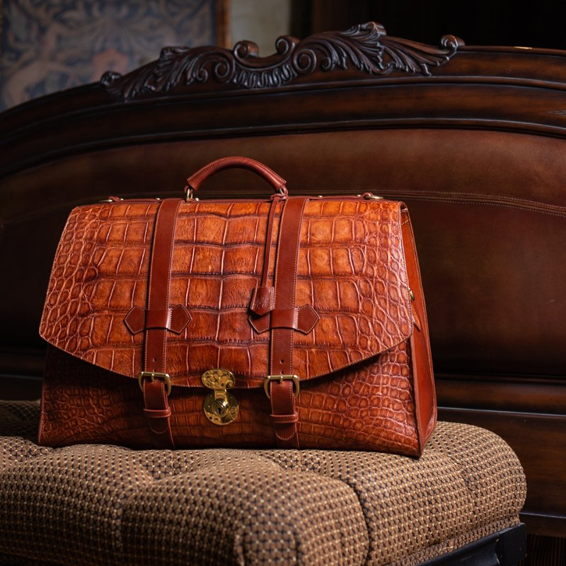American Alligator Holdall in American Alligator