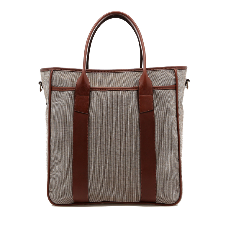 Commuter Tote - Tweed Sunbrella - Silver Hardware  in