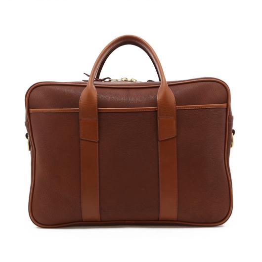 Commuter Briefcase - Antique/Cognac - Chevre in