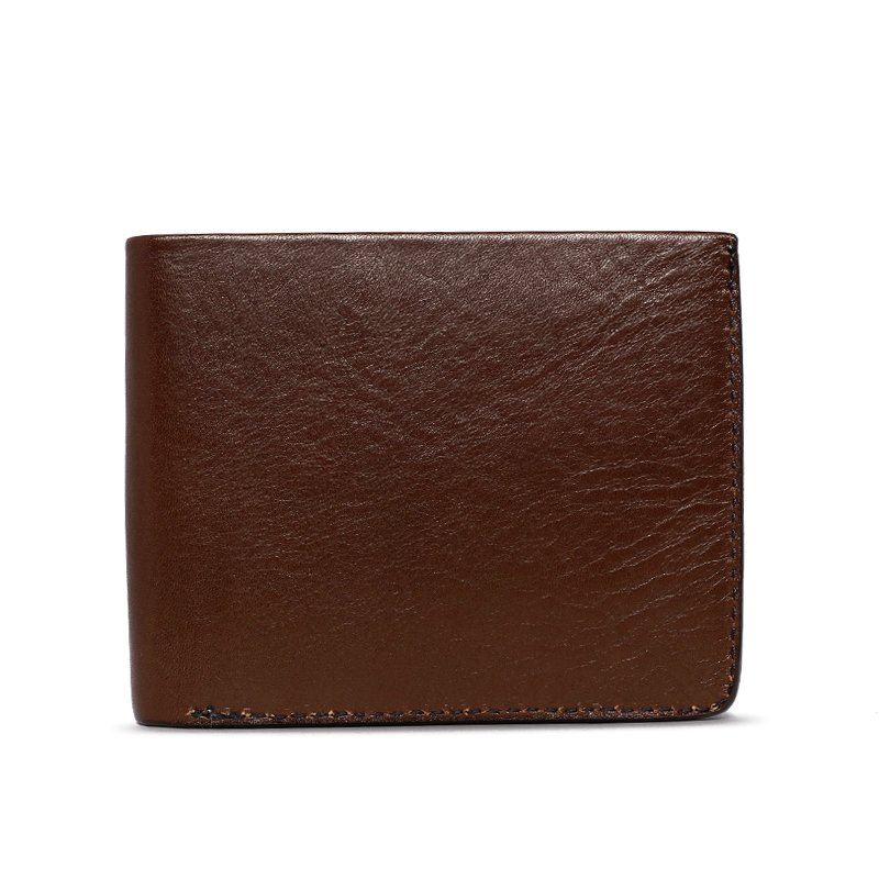 Bifold Wallet Slanted Pockets in Smooth Tumbled Leather