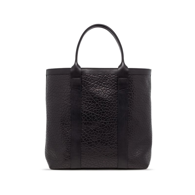 Tall Tote in Shrunken Grain Leather