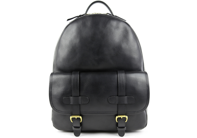 Zipper Backpack-Black in