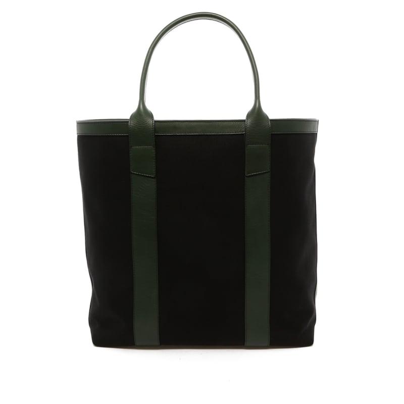 Tall Tote - Black Canvas / Green Trim - 18 oz Canvas' in