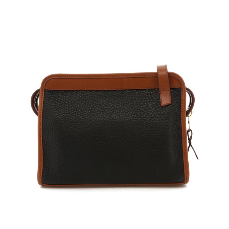 Blazer Bag - Black/Cognac Trim - Pebbled Leather in