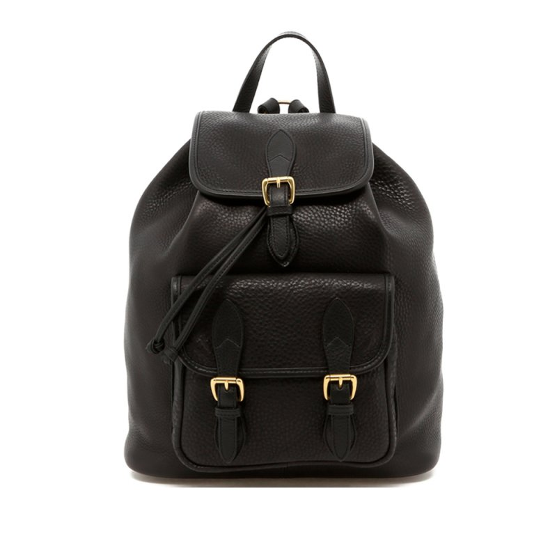 Classic Backpack - Black - Pebbled Leather in