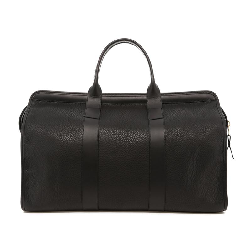Signature Travel Duffle - Black Pebbled Leather / Black Trim in