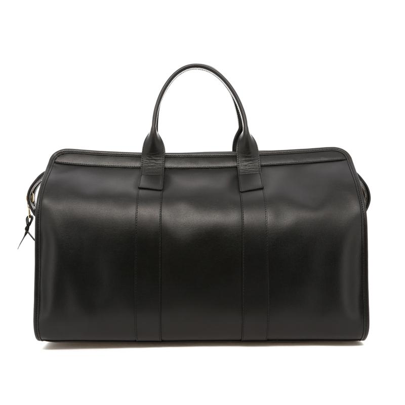 Signature Travel Duffle - Black - Hatch Grain Leather in