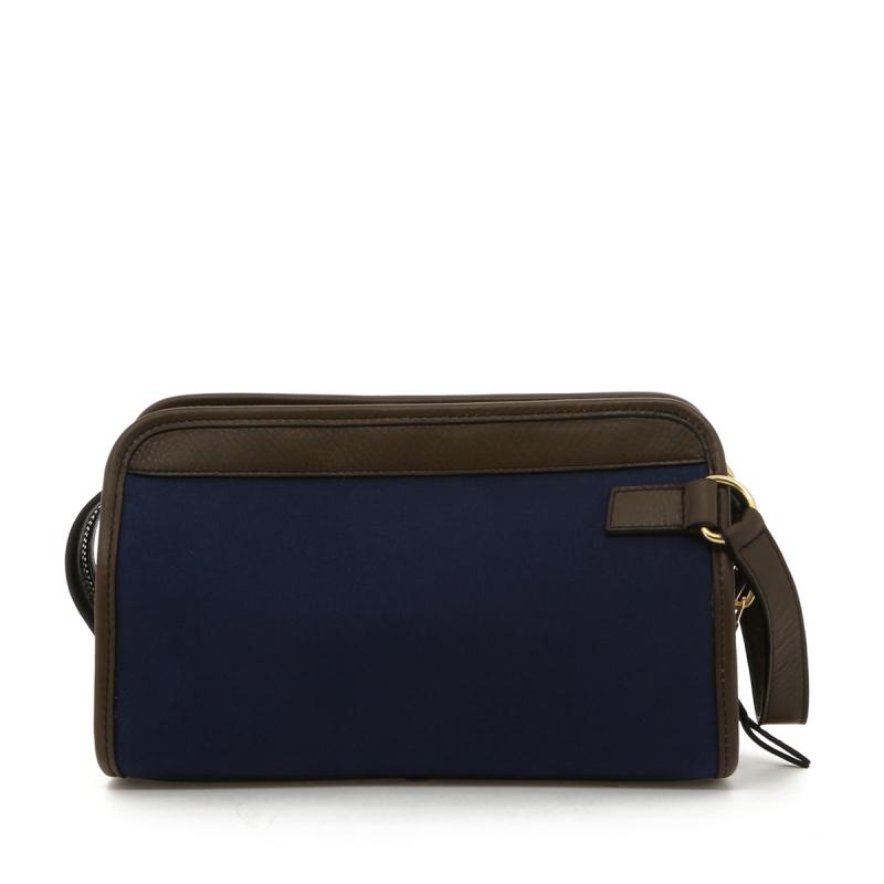 Small Travel Kit - Blue/Olive Trim - Twill in