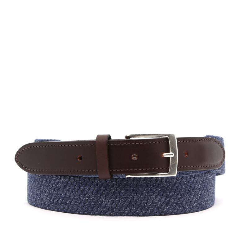 Woven Wool Stretch Belt in solid_wool