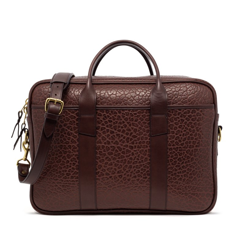 Commuter Briefcase in Shrunken Grain Leather