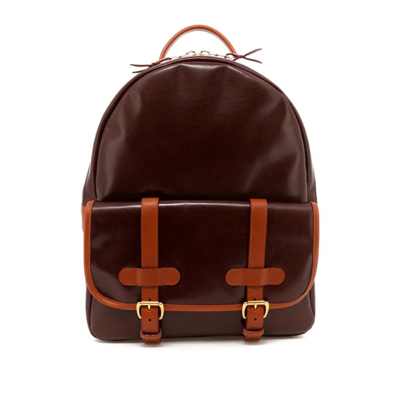 Hampton Backpack - Brown Goatskin / Cognac Trim in