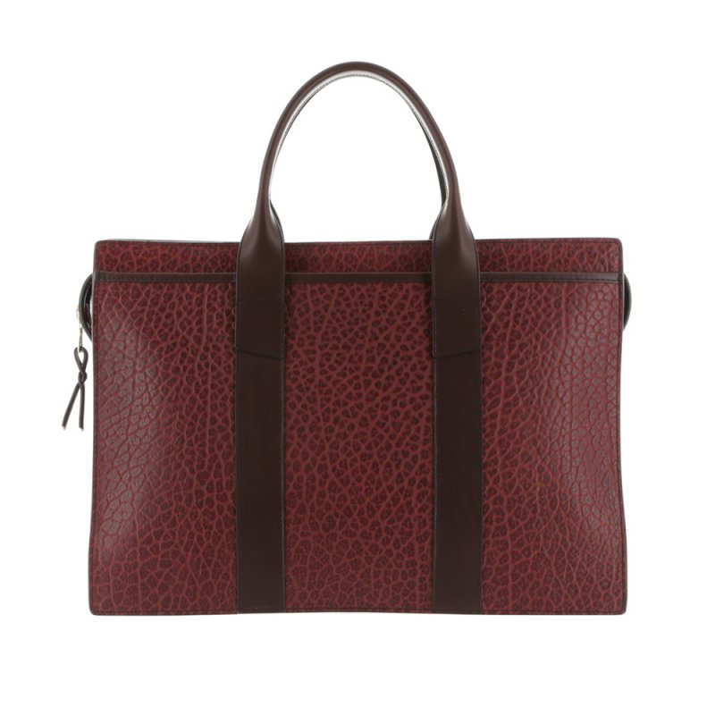 Double Zip-Top - Maroon/Chocolate - Shrunken Grain Leather