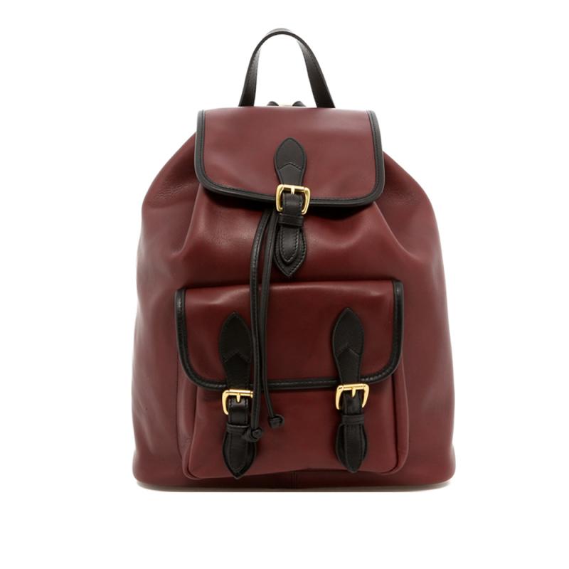 Classic Backpack - Burgundy/Black - Tumbled in