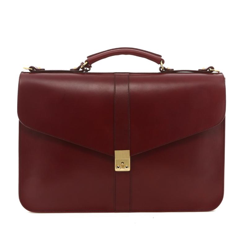Lock Brief - Cabernet - Belting Leather in
