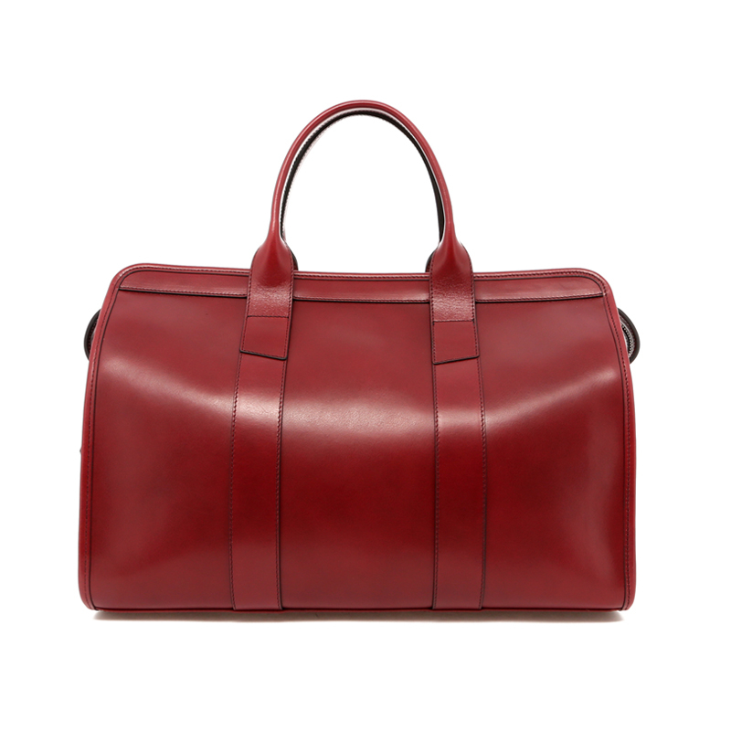 Small Travel Duffle - Cabornet - Belting Leather - Blue Cordura Interior in