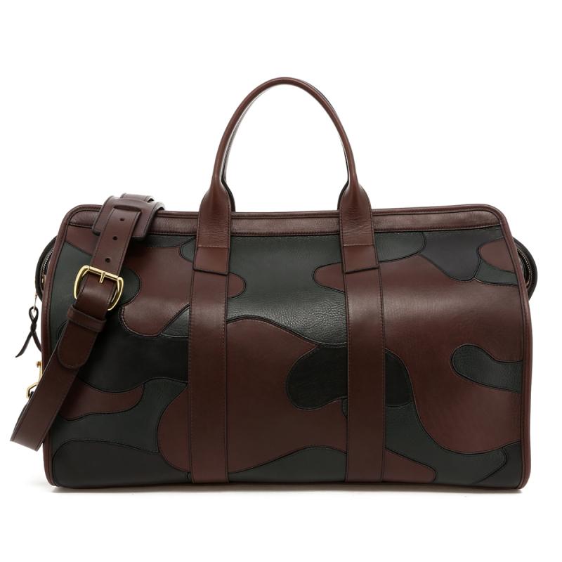 Leather Camo Travel Duffle Bag