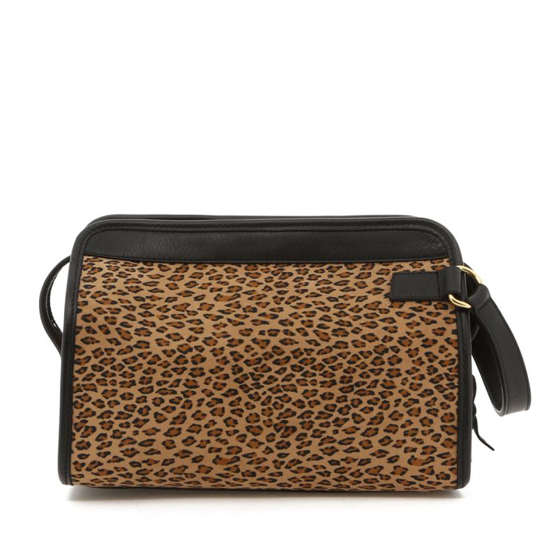 Large Travel Kit - Cheetah Microfiber / Black Trim in