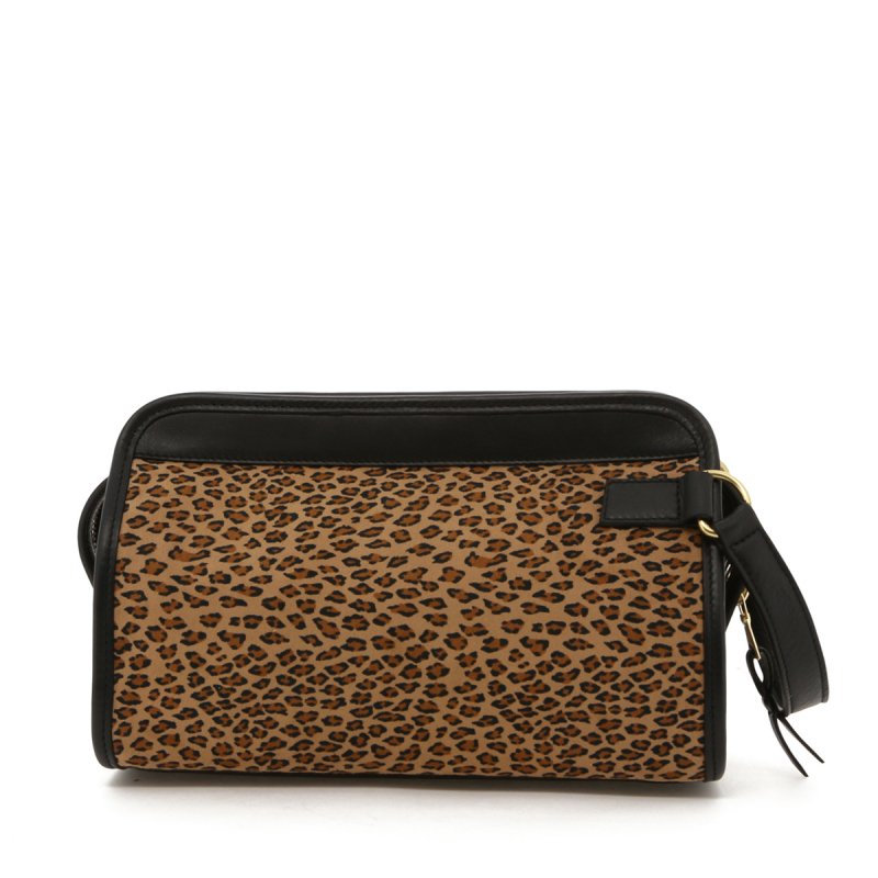Small Travel Kit - Cheetah Microfiber / Black Trim in