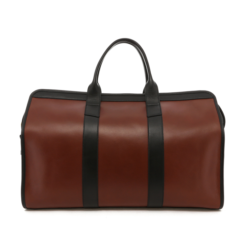 Signature Travel Duffle - Chestnut/Black Trim - Black Interior - Belting Leather in