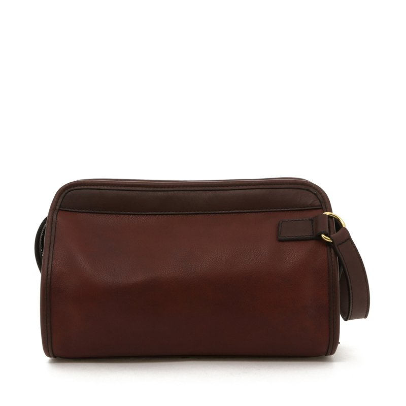 Small Travel Kit - Chestnut with Chocolate Trim - Tumbled in