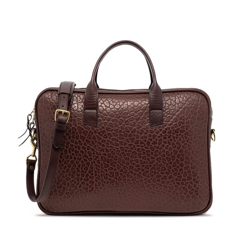 Chocolate Laptop Computer Leather Briefcase Shrunken Grain 1 1