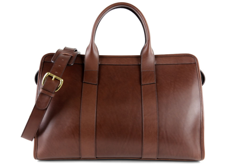 Small Travel Duffle-Lined-Chocolate in
