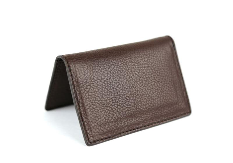 Folding Card Case-Chocolate in