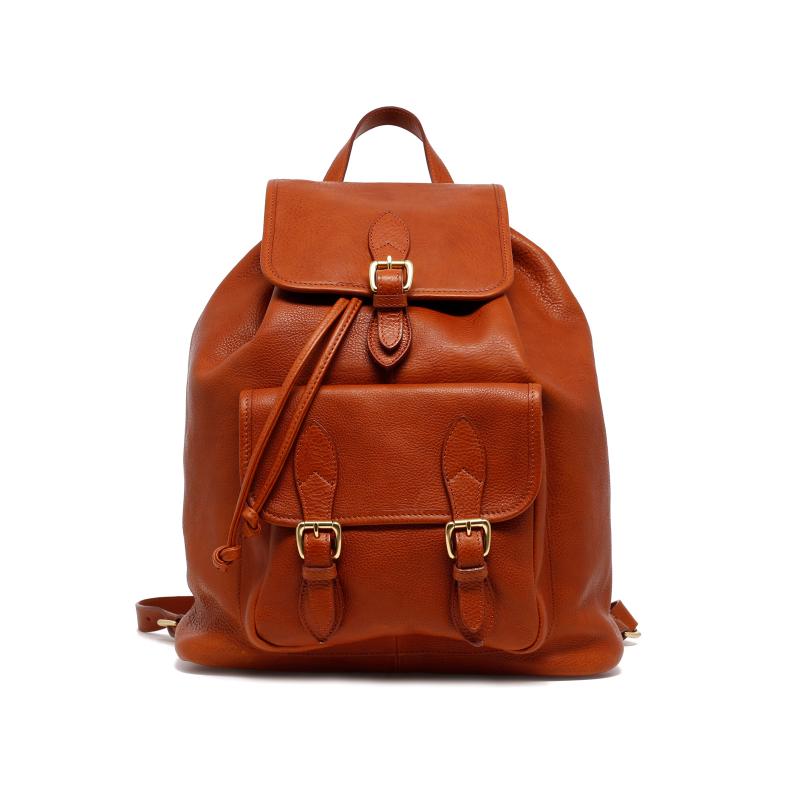 Classic Backpack - Cognac - Pebble Grain Leather