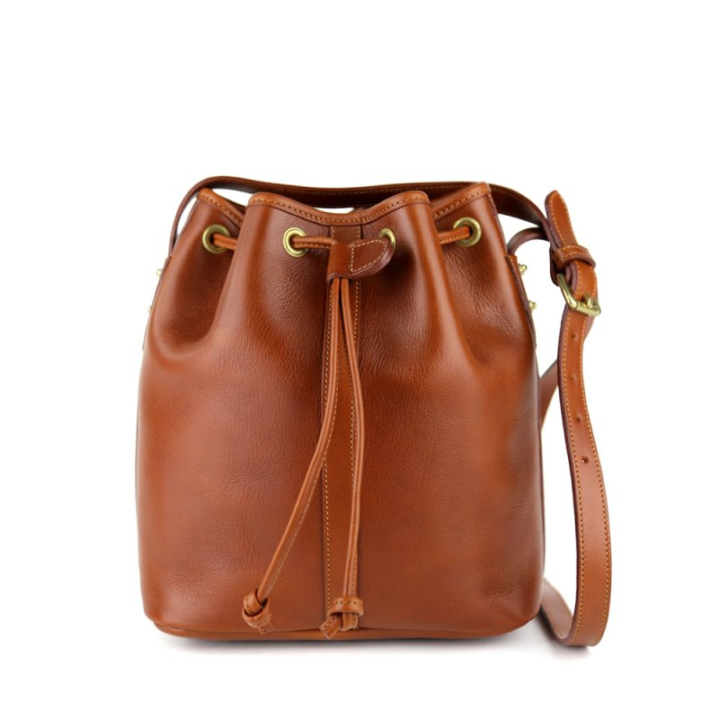 Bucket Bag in Smooth Tumbled Leather