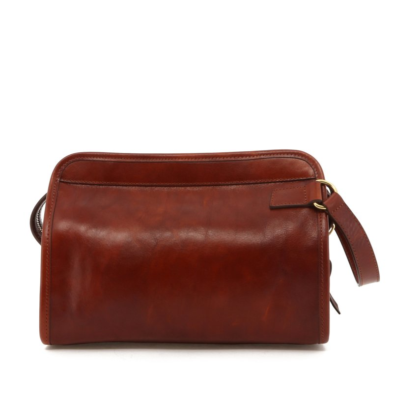 Large Travel Kit - Cognac Hand Stained Leather in