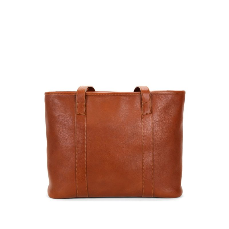 Medium Laurelie Zip-Top Tote in Smooth Tumbled Leather