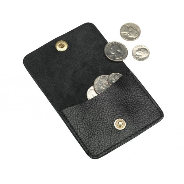 Coin Wallet in Smooth Tumbled Leather