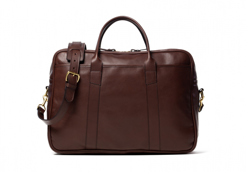 Commuter Duffle-Chocolate in Smooth Tumbled Leather