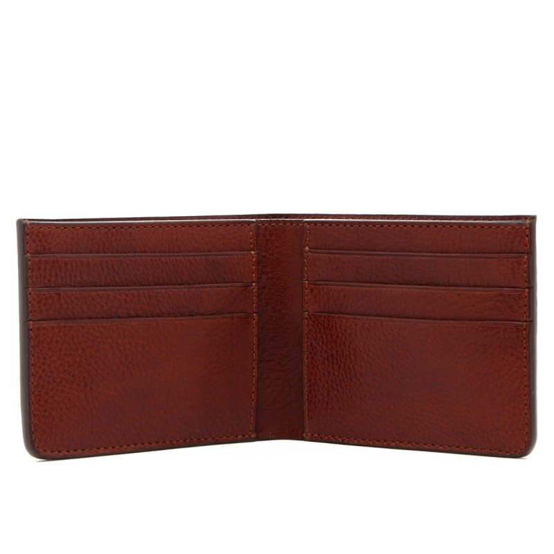 Bifold Wallet - Dark Chestnut - Tumbled Leather in