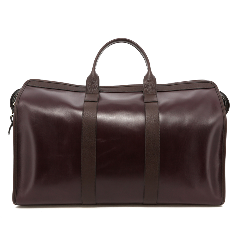Compass Duffle - Eggplant / Brown Trim - Belting in