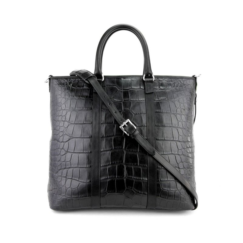 American Alligator Zip-Top Tote in American Alligator