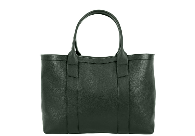 Small Working Tote-Green-Sunbrella Lining with Pocket in