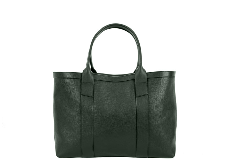 Small Working Tote-Green-Unlined in