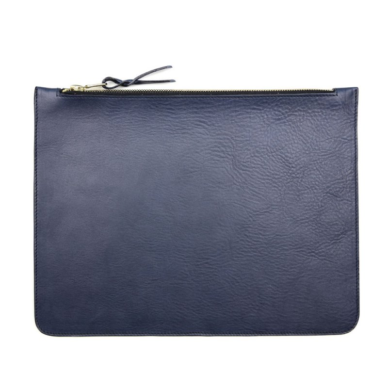 Large Leather Zipper Pouch