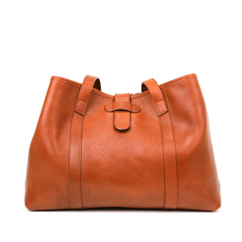 Signature Handbag Tote  in Smooth Tumbled Leather