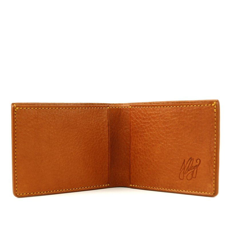 The Slim Wallet  in Smooth Tumbled Leather