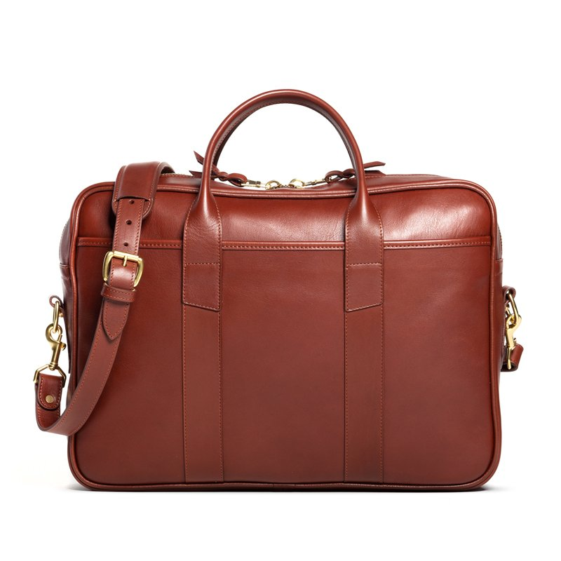 Frank Clegg Commuter Briefcase Leather Chestnut