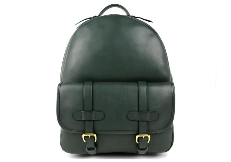 Zipper Backpack-Green in