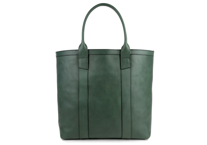 Tall Tote -Sunbrella Lining with Pocket-Green in