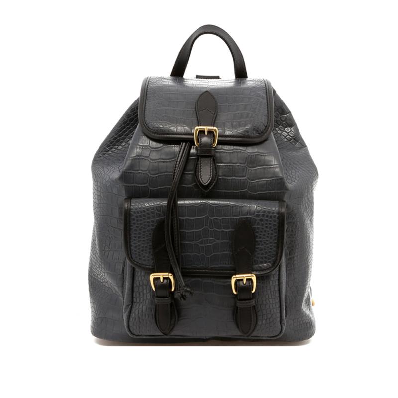 Classic Backpack - Grey/Black  - Gator Print in
