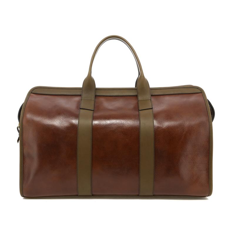 Signature Travel Duffle - Hazelnut/Olive Trim - Belting Leather in