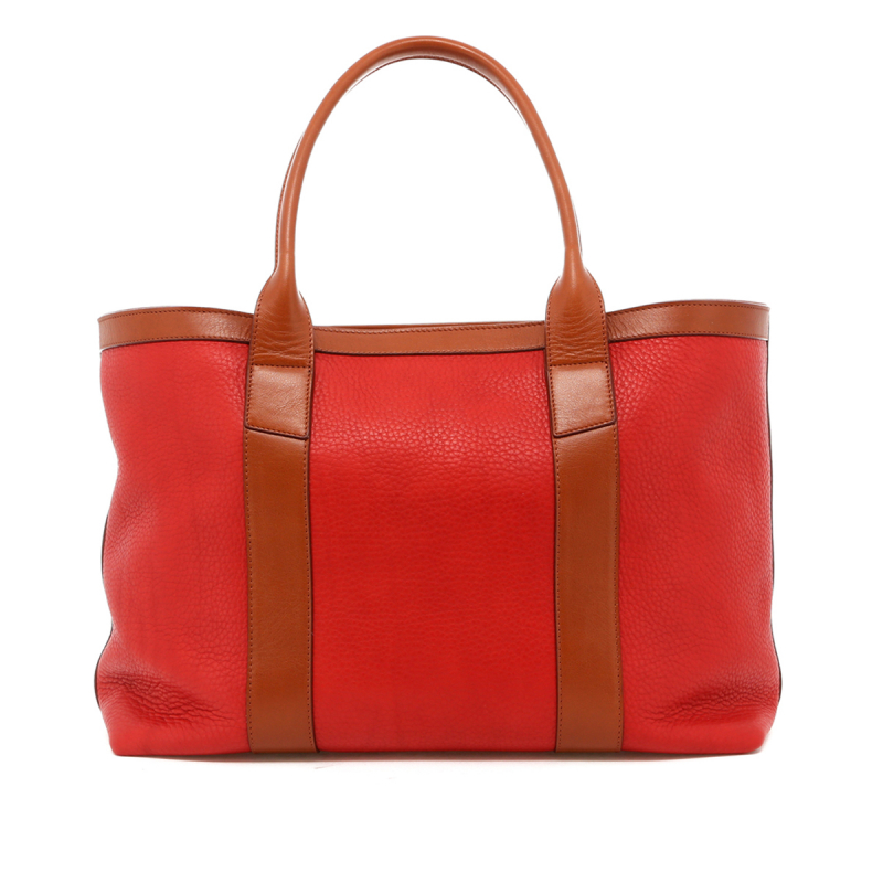Large Working Tote - Hibiscus Soft Leather / Cognac Trim in