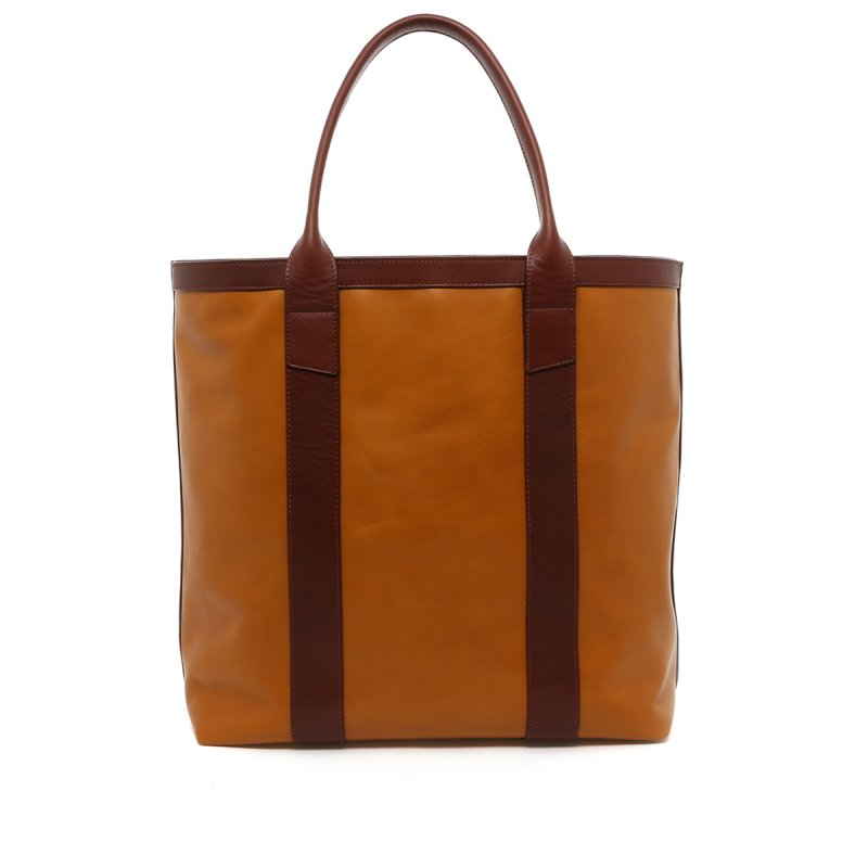 Tall Tote - Honey Gold/Chestnut Trim - Tumbled in