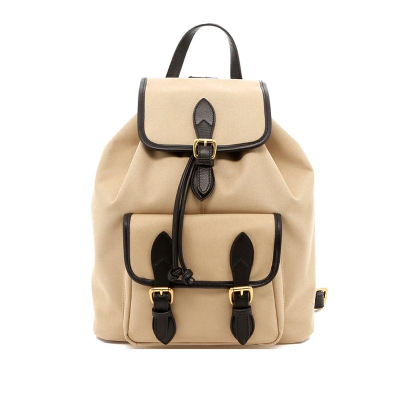 Classic Backpack - Khaki Black - Twill in
