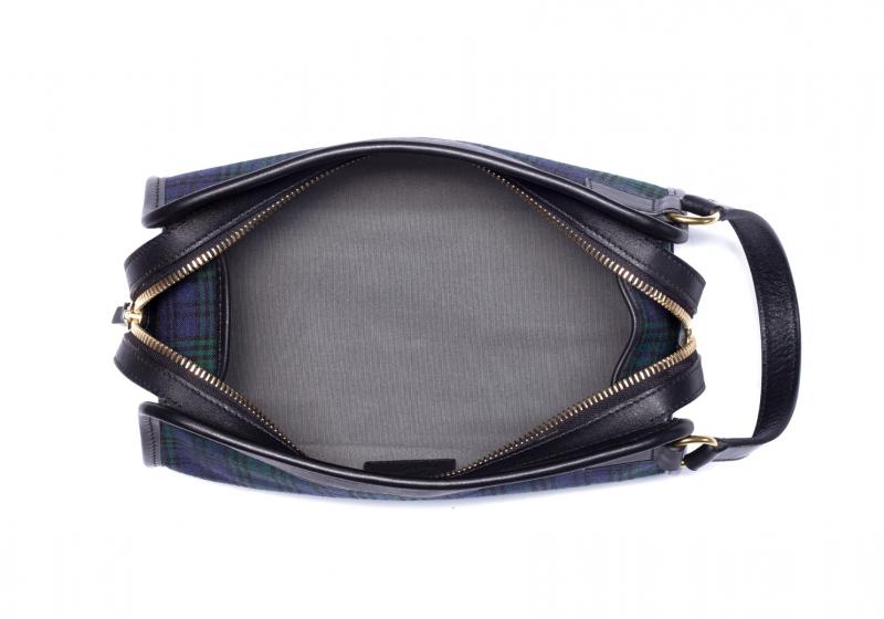 Large Travel Kit - Black Watch Tartan/Black - Canvas in